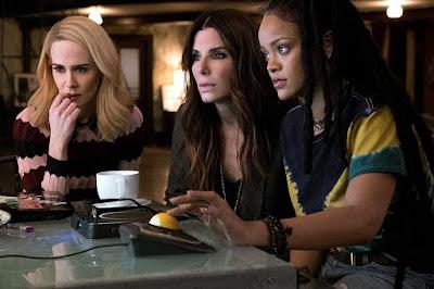 Ocean's 8 Sandra Bullock, Sarah Paulson and Rihanna