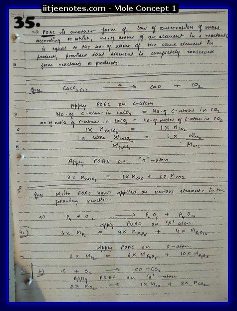Mole Concept Notes IITJEE3