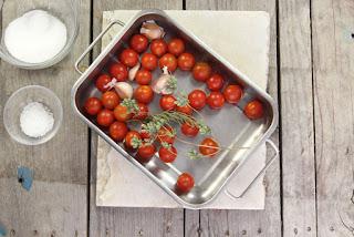 tomates cherry asados paso 1