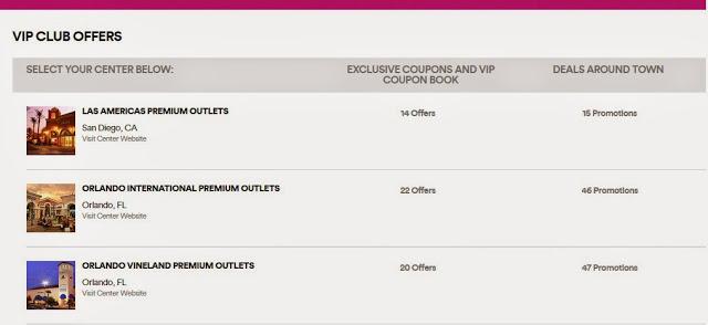Cupones de descuento de los Outlets Premium Orlando