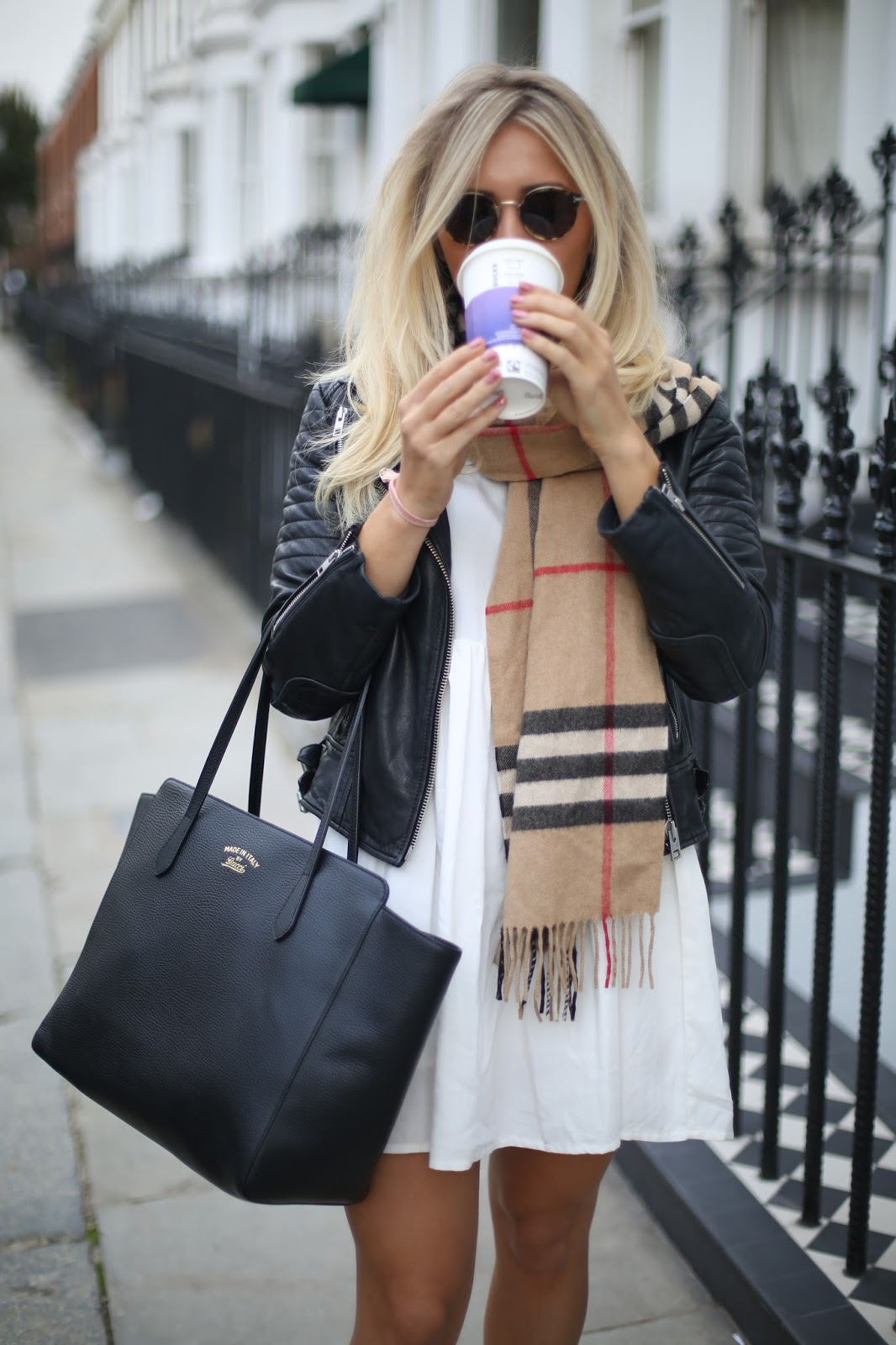styling a burberry check scarf