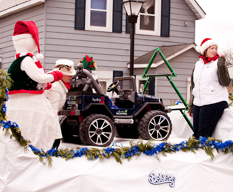One of the floats from the 2011 Santa Clause Parade in Orillia.