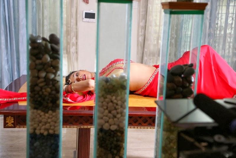 Haripriya Latest Images In Red Half Saree