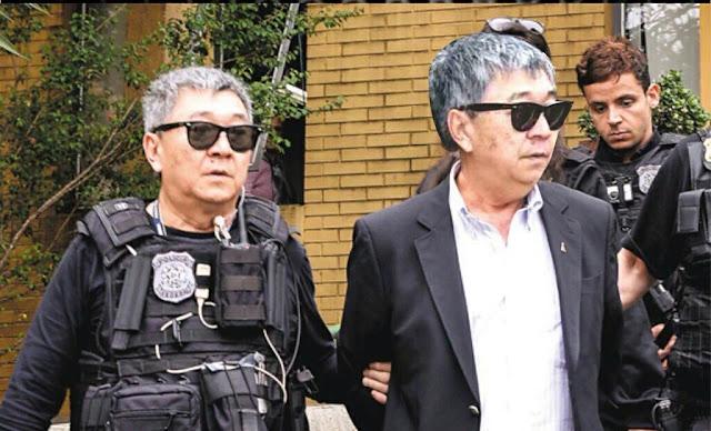 aponês da Federal sendo preso