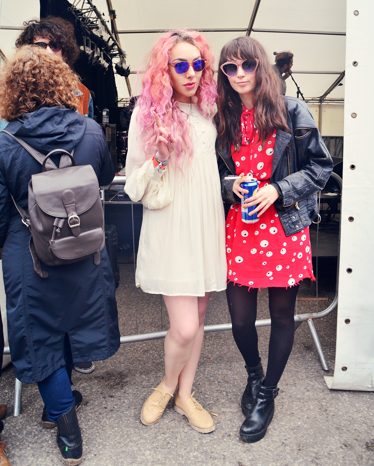 Festival Fashion Blogger Stephi LaReine with musician Findlay at Liverpool Sound City 2015