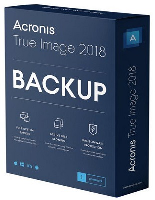 Acronis True Image 2018 Build 9660 poster box cover