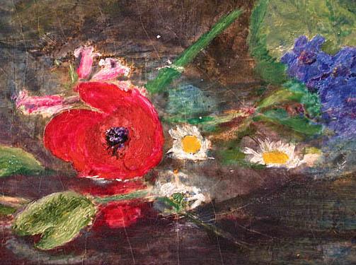 Resultado de imagen de oleos de doncellas con rosas gif