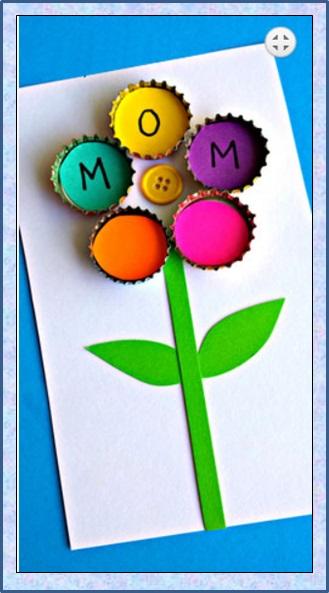 Manualidades Creativas Tarjeta Con Chapitas Para Ninos - Manualidades-creativas