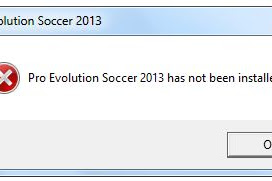 Mengatasi Pro Evolution Soccer 2013 Has Been Not Installed