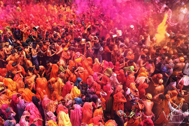 Holi India 2017 picture Barsana Mathura Vrindavan plan