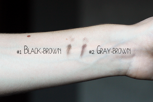 Etude house - Drawing Eye brow review swatch