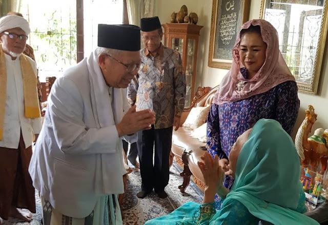 Diantar Mahfud MD, Kiai Ma'ruf Amin Bertemu Nyai Shinta Nuriyah