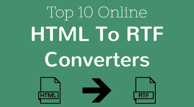 HTML to RTF