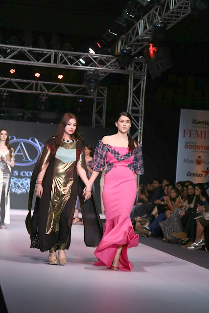 Designer Ashima Sharma with Mannara Chopra