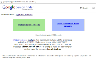 google person finder typhoon yolanda