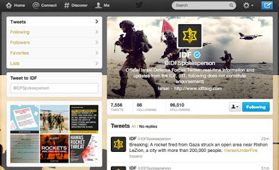 Israel Defense Forces Twitter Account