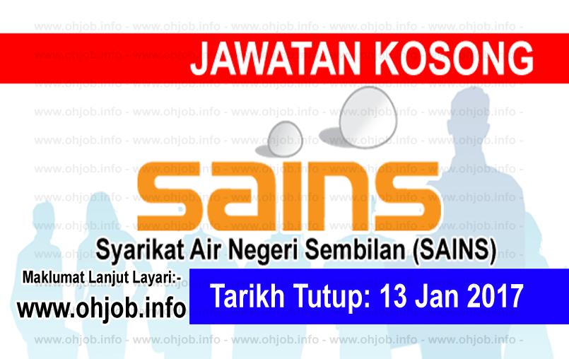 Jawatan Kerja Kosong Syarikat Air Negeri Sembilan (SAINS) logo www.ohjob.info januari 2017
