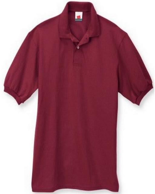 Hanes 054X Mens Comfortblend Jersey Polo -Cardinal – L