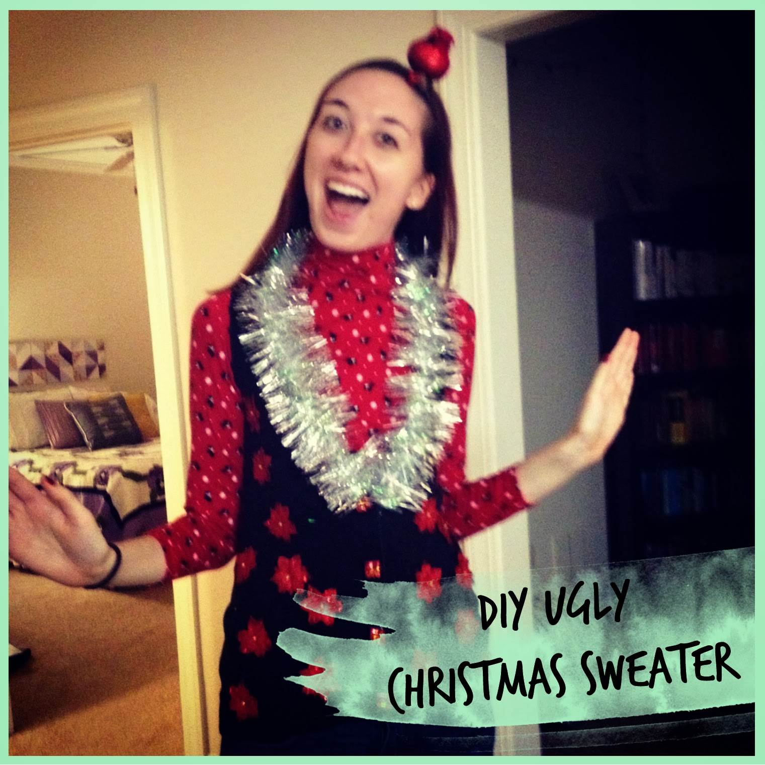 My Rolling Home: DIY Ugly Christmas Sweater(vest)