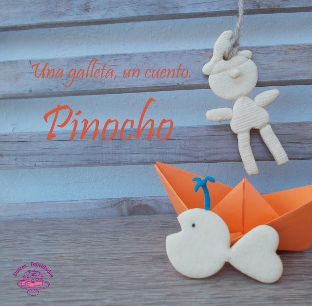 Galletas texturizadas para el cuento de Pinocho