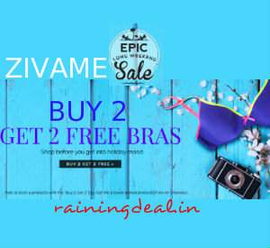 Zivame Innerwear & Clothing Buy 2 Get 2 Free + Extra 1% Cashback