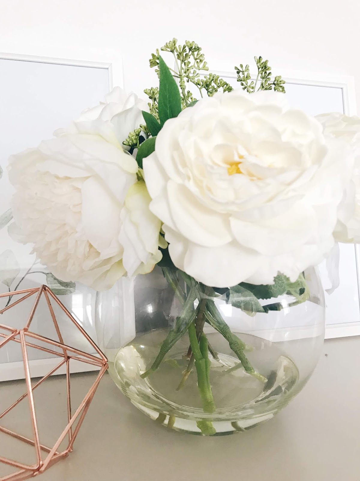 Image of Dorma Peony and Rose Arrangement Dunelm