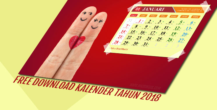 Free Download Kalender Tahun 2018 Wallpaper HD