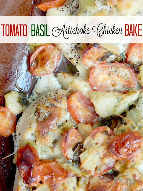 tomato basil artichoke chicken bake (sweetandsavoryfood.com)