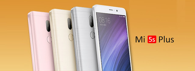 Xiaomi Mi5S Plus smartphone with 4k resolution and dual sim