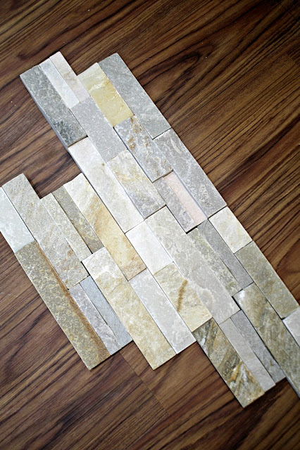 stacked stone tile for fireplace