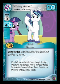My Little Pony Shining Armor, Soldier in Training Marks in Time CCG Card