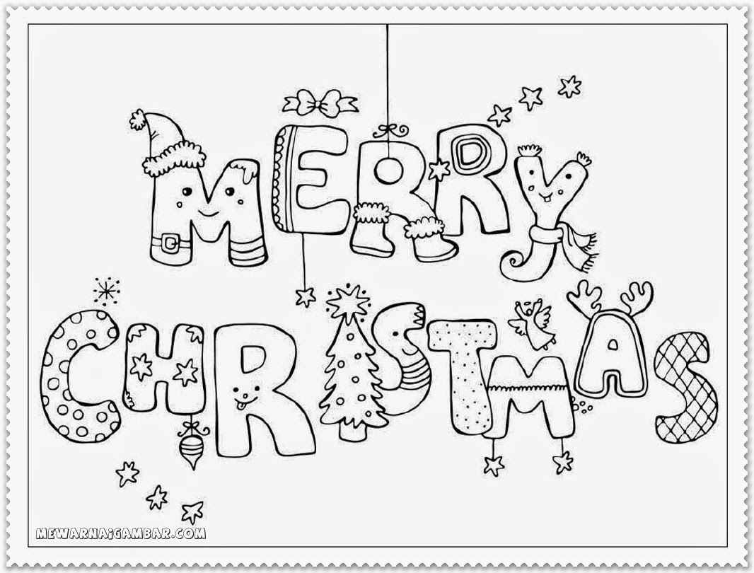 Christmas Coloring Sheets Kindergarten