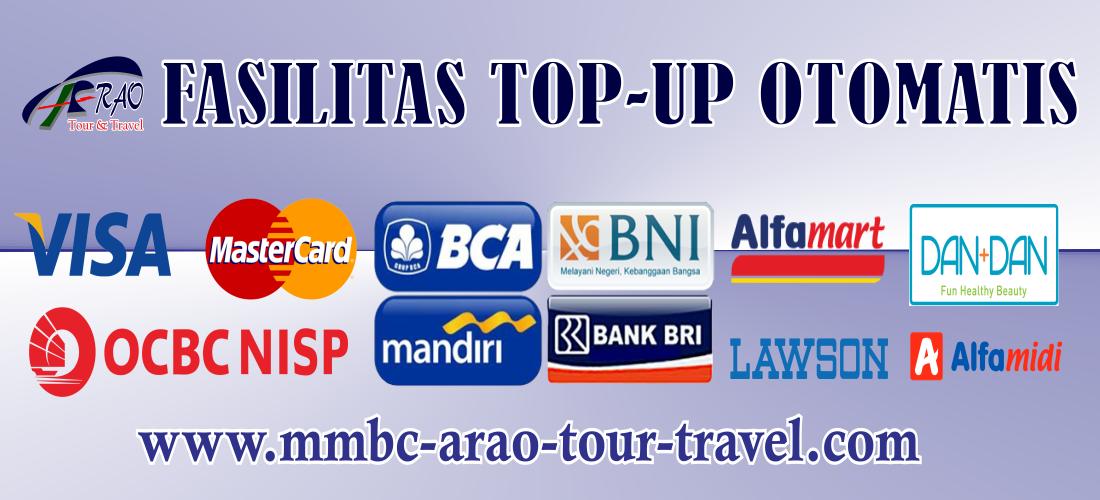 Fasilitas Top Up Otomatis dari MMBC ARAO Tour and Travel