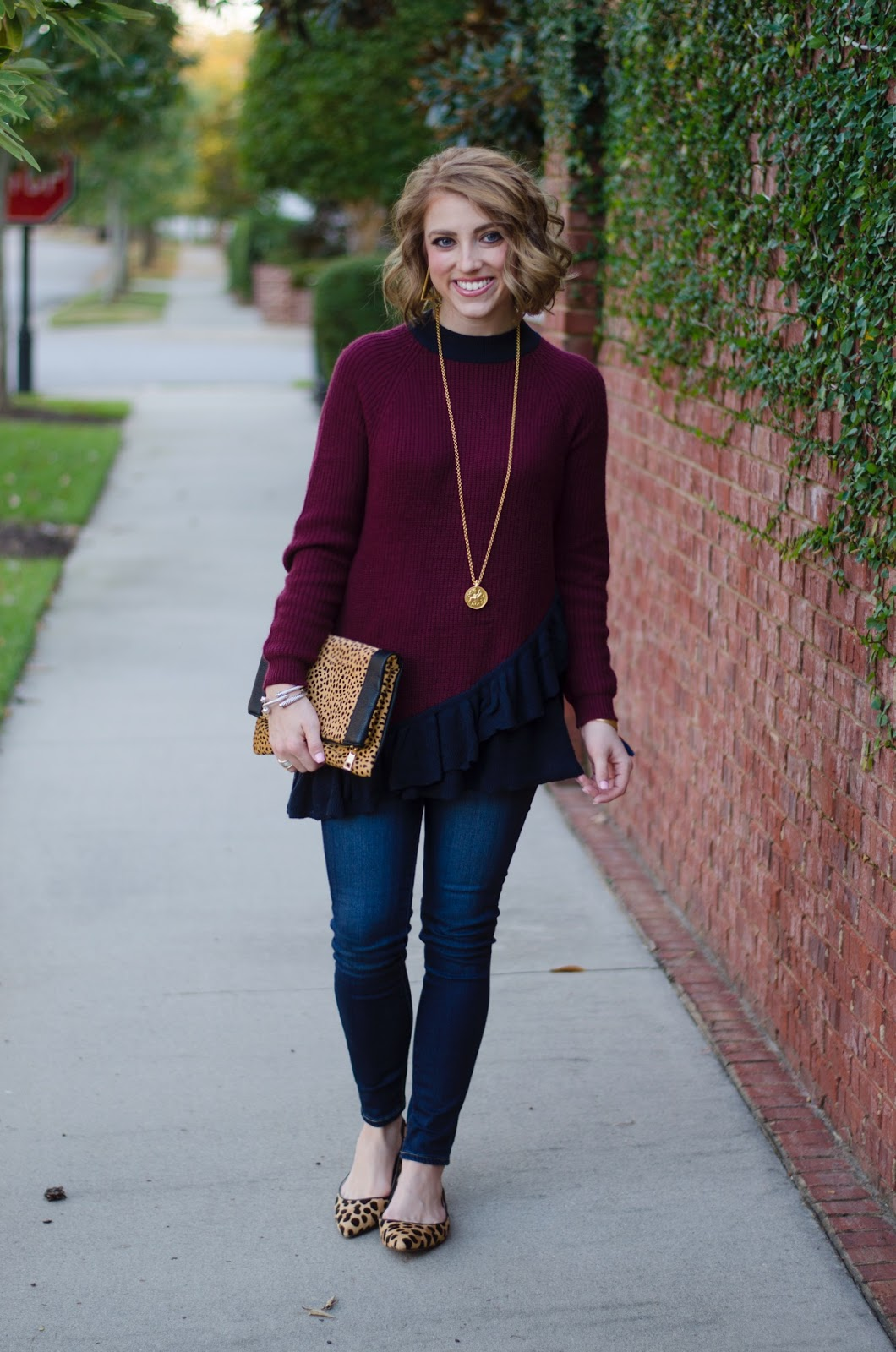 Ruffle Sweater - Something Delightful Blog