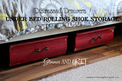 Glimmer And Grit Under Bed Distressed Drawers Become