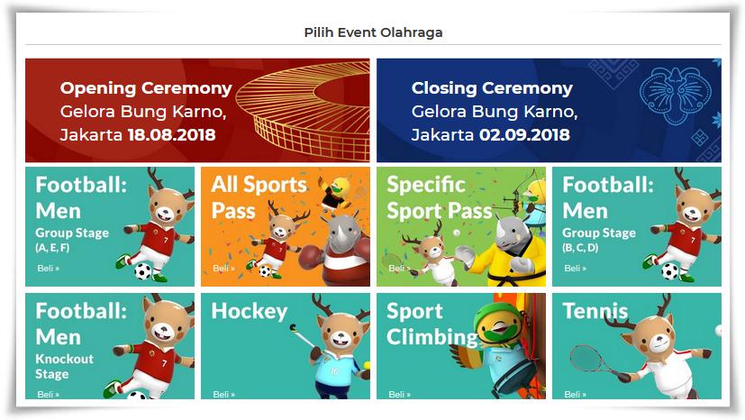 Beli tiket untuk menonton Asian Games di KiosTix saja
