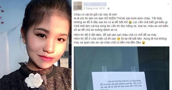 Hành động đẹp của thiếu nữ Hà Thành khi chủ xe đỗ chắn lối vào nhà