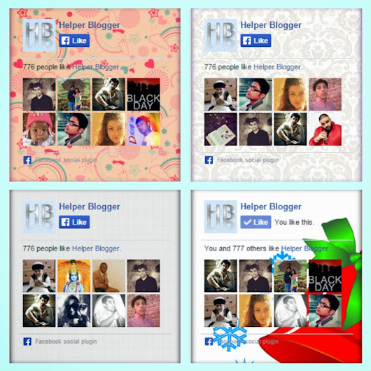 Set of 15+ Custom Facebook Likeboxes ~ Helper Blogger