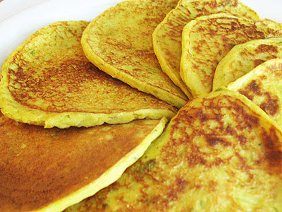 Curried Potato and Cauliflower Pancakes