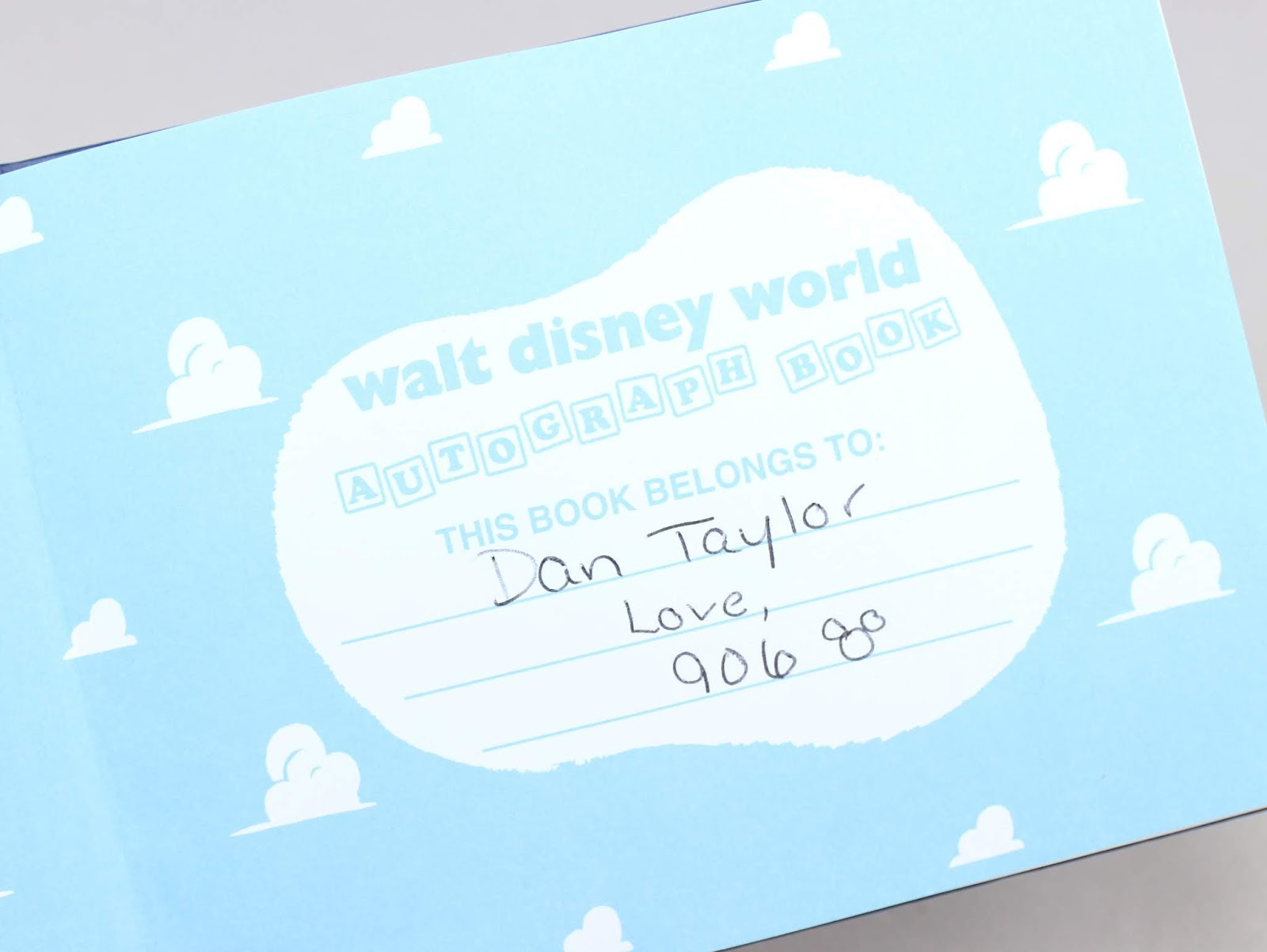Walt Disney World Pixar Autograph Book