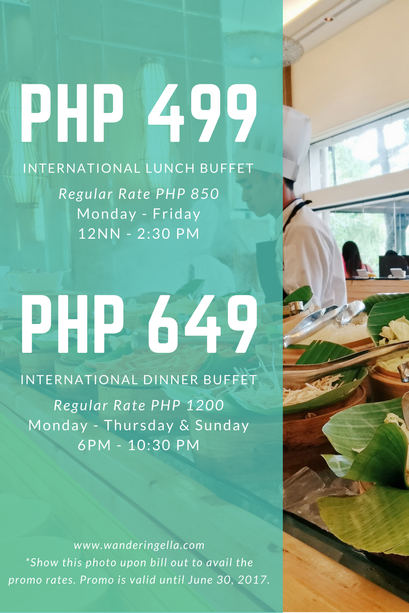 International Lunch Buffet at Cebu City Marriott + 50% OFF Promos