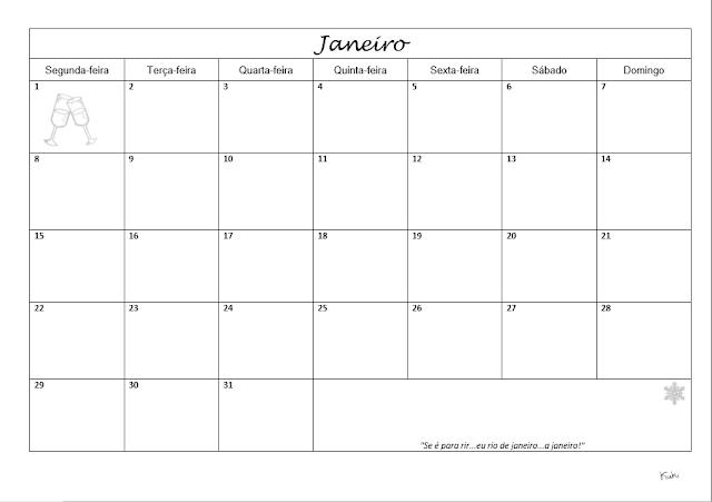 planner para Janeiro 2018