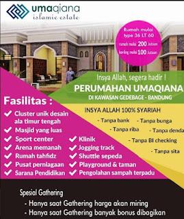 Perumahan syariah dan rumah syariah d Bandung umaqiana village