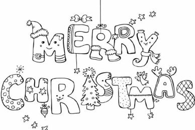 Disney Christmas Coloring Pages printable for Adults