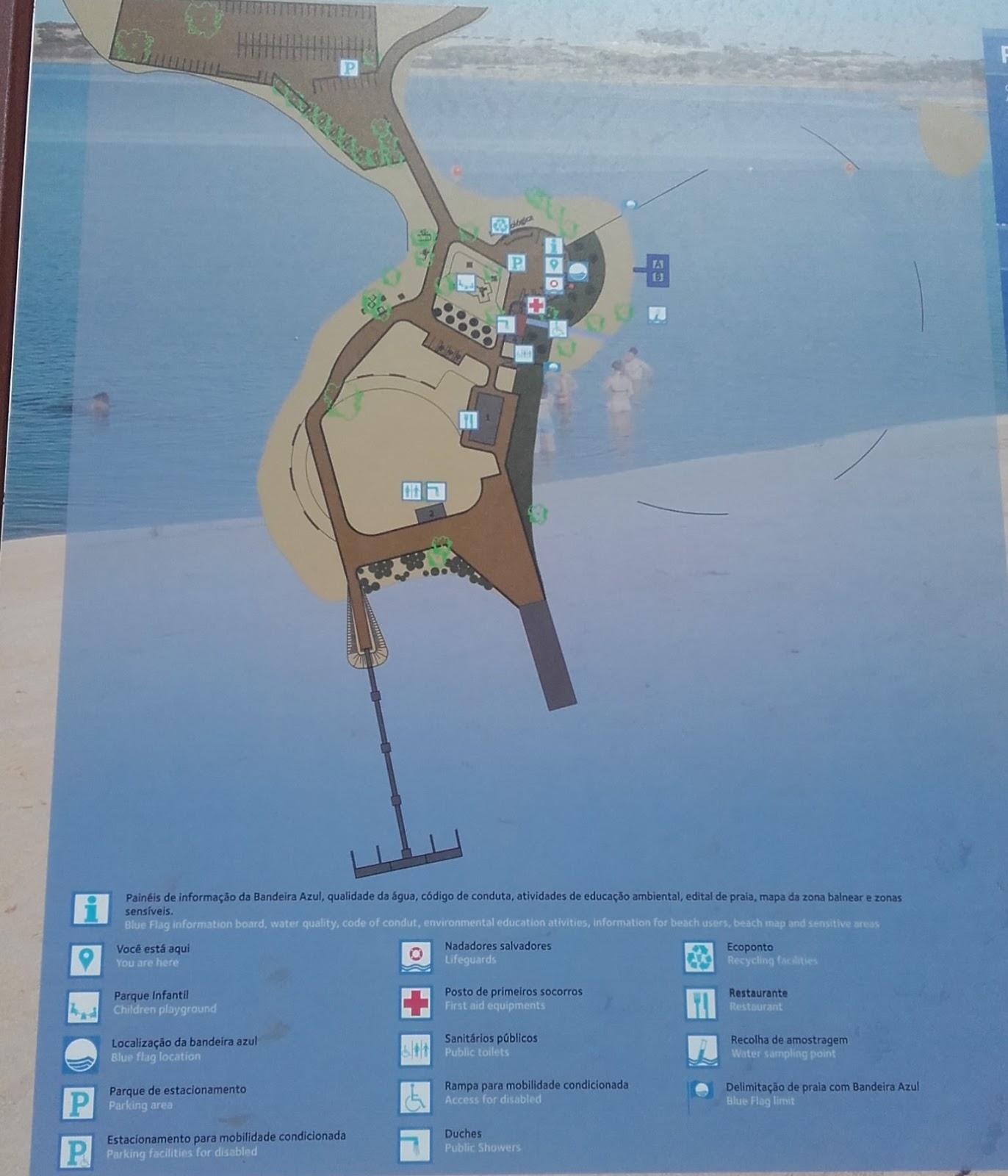 Plano das infra-estruturas da Praia fluvial de Monsaraz
