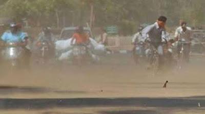 Uttar Pradesh Delhi Storm Temperature Drops