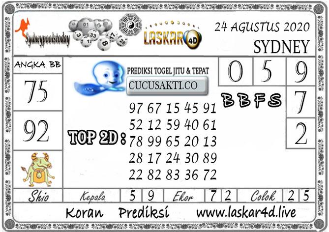 Prediksi Togel SYDNEY LASKAR4D 24 AGUSTUS 2020