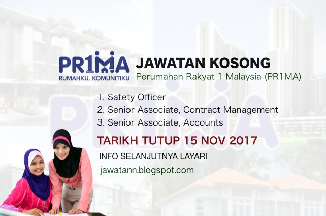 Jawatan Kosong Perbadanan Pr1ma Malaysia (PRIMA)