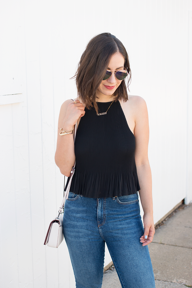 Styling a halter top