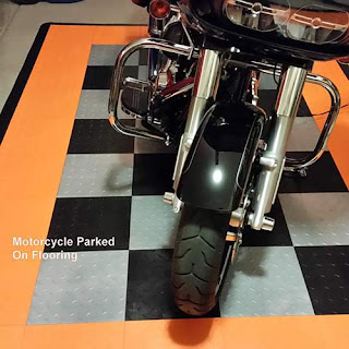 Greatmats custom motorcycle parking pad